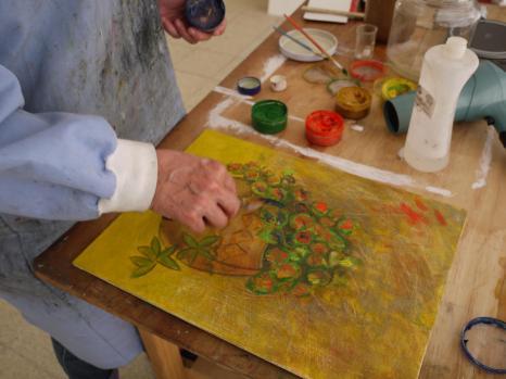 pintando con encausto