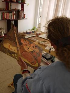 pintando con el encausto