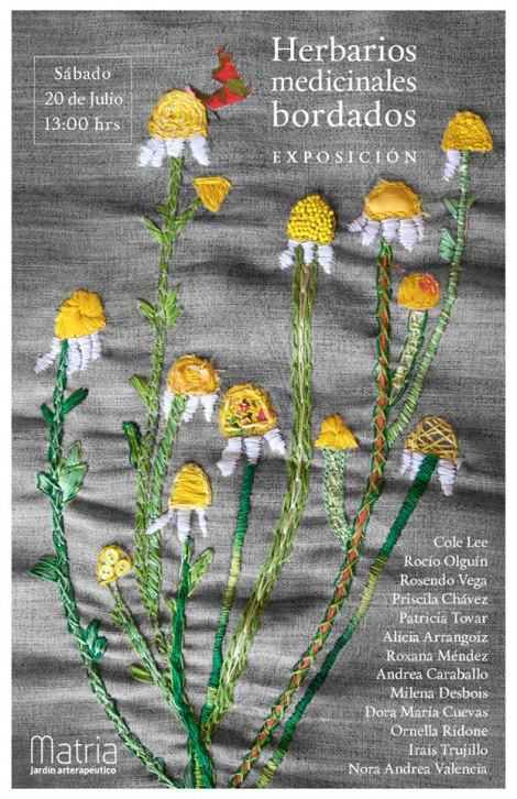 herbarios medicinales bordados invitación