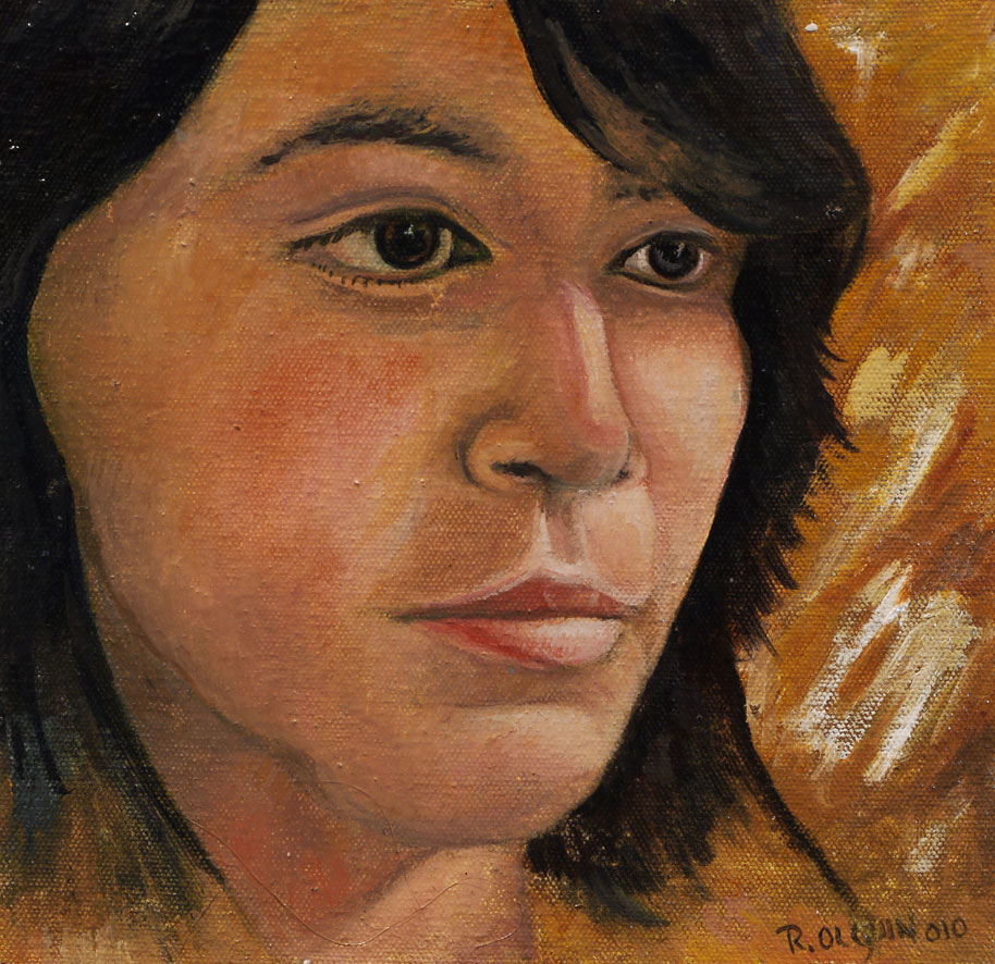 Oil painting portrait - children