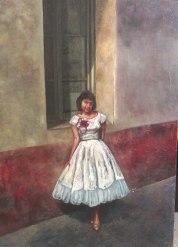 """Oil painting portrait """"La ventana"""""""