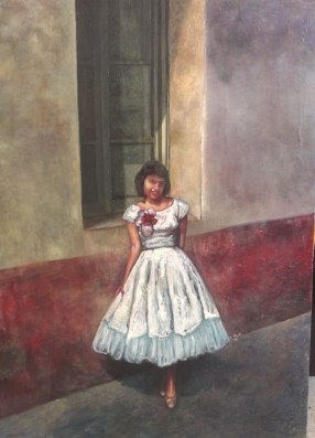 "Oil painting portrait ""La ventana"""