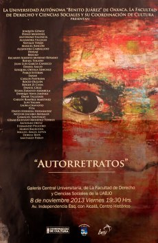 CARTEL EXPOSICION FACULTAD DE DERECHO DE LA UABJO 2013