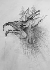 Dragón Lápiz 26.5x21.5 cm $150