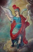 San miguel Arcangel Temple-óleo 60x40 cm