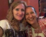 Disfrutando con mi amiga Laurie